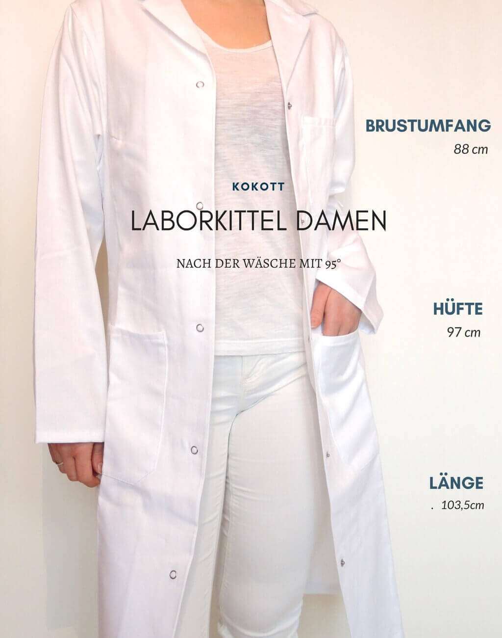 Kokott-Laborkittel-günstig-Damen-tailliert-Maße-1