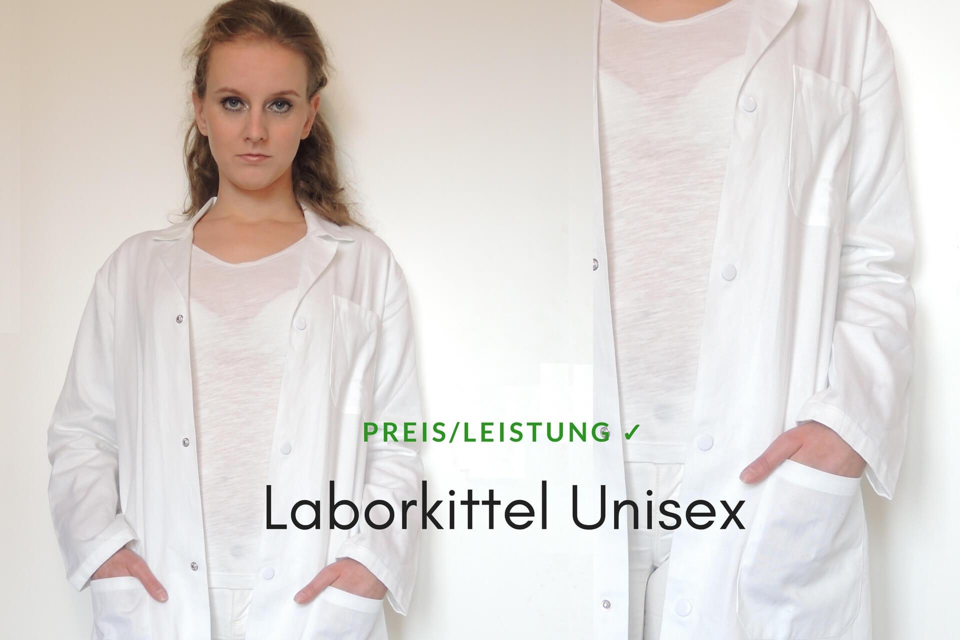 Unisex Laborkittel Baumwolle weiß Labor Größen 34-64