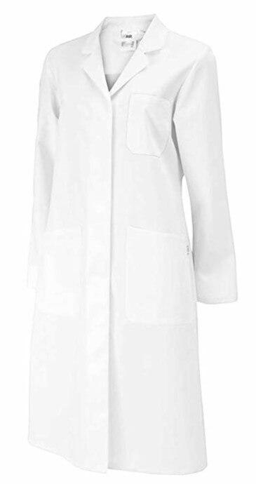 Der Arztkittel weiß Damen tailliert Baumwolle PB
