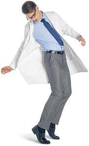 Dr James Laborkittel Unisex Herren