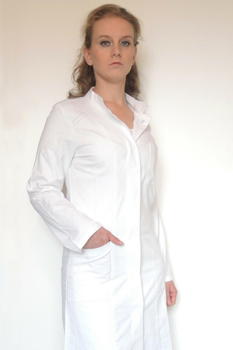 Visitenkittel Arztkittel Baumwolle Damen