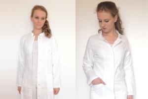 Damen Herren Laborkittel vs Arztkittel Laborkittel mit rückengurt