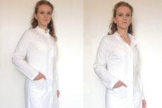 Damen Laborkittel Visitenkittel Arztkittel mit Laborkittel Co